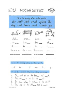 sh ch digraphs