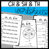 sh, ch, th Worksheets: Spinner sheet, Roll and Read, Practice Sheet