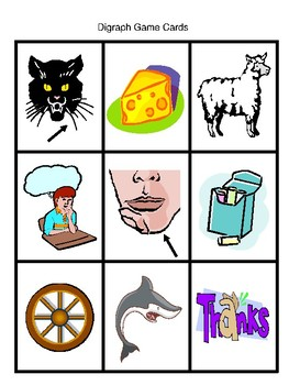 """""""sh, ch, th, and wh"""" Digraph Game"""