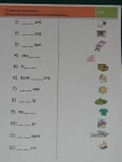 /sh/ digraph and /st/ blend worksheet