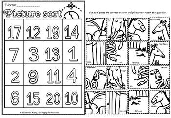 number animal picture sort(flash freebie)
