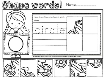 shape words