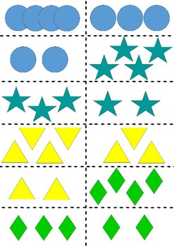 shapes flashcards counting game colour
