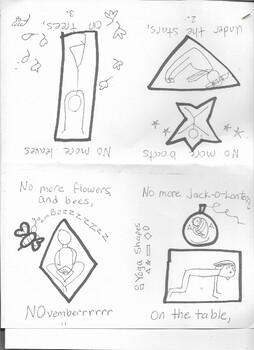shapes yoga booklet for November or December