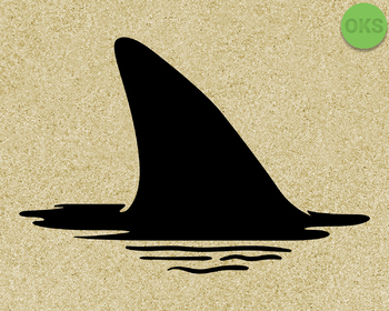shark fin SVG cut files, DXF, vector EPS cutting file instant download