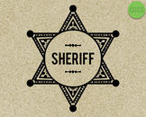 sheriff badge SVG cut files, DXF, vector EPS cutting file instant download