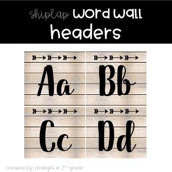 shiplap word wall header