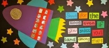 shoot for the moon bulletin board idea