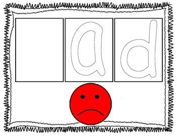 short a CVC sight word mats