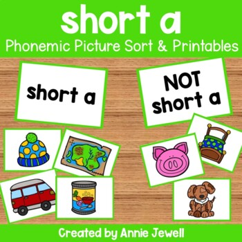 short a - Phonemic Picture Sort Activity and Printables