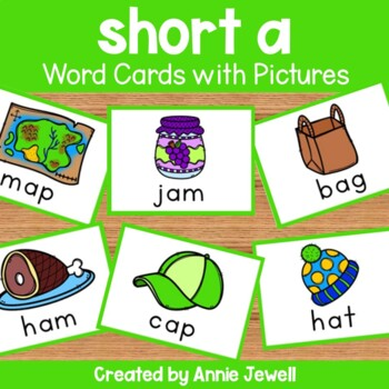 short a - Word Cards with Pictures - Flashcards and Worksheets