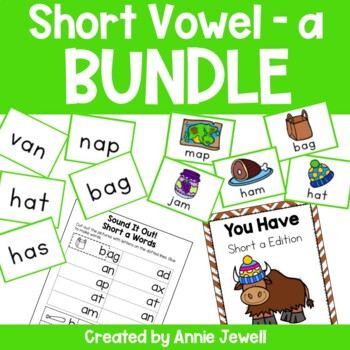 short a BUNDLE Working on Sounds and Words Activities, Flashcards, & Printables