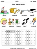 short ea phonics lesson plans, worksheets and other teaching resources