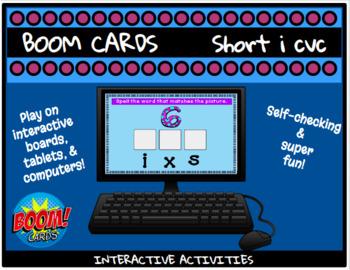 short i cvc BOOM CARDS activities!