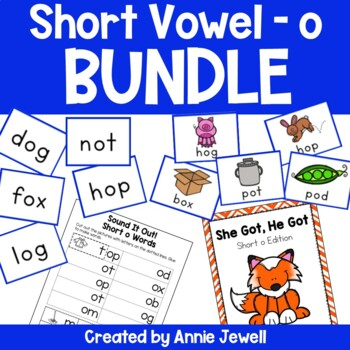 short o BUNDLE Working on Sounds and Words Activities, Flashcards, & Printables
