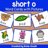 short o - Word Cards with Pictures - Flashcards and Worksheets