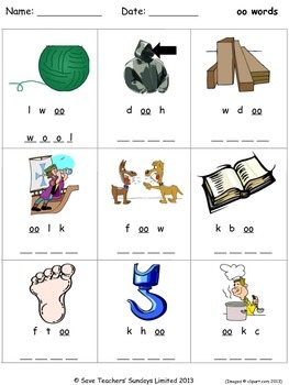 short oo phonics lesson plans, worksheets and other teaching resources