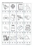 CVC short vowel a worksheet