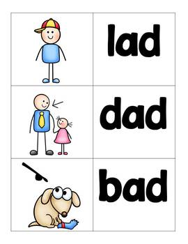 short vowel a word families