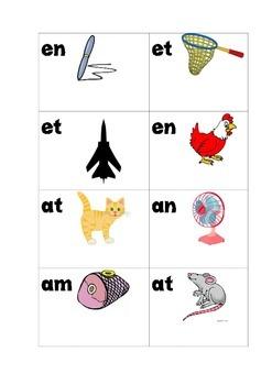 short vowel a,e,i cvc cards