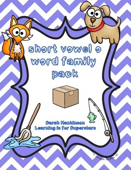short vowel o word family pack