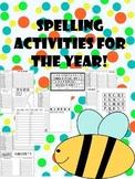 short vowel spelling word work activities and lists