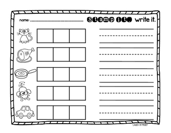 stamp and write short vowel pack