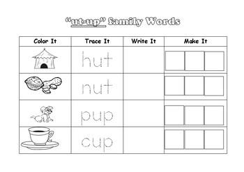 short vowel u Family