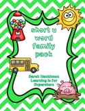short vowel u word family pack