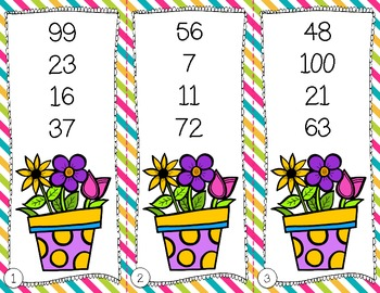 Showers 'n Flowers {Math & Literacy Centers for April and May}