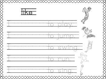 sight word LIKE printable