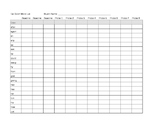 Dolch words and phonics assessment forms