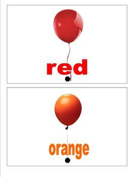 sight word book: balloons