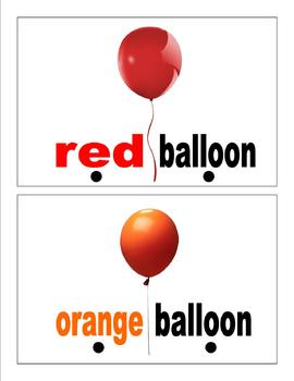 sight word book: balloons