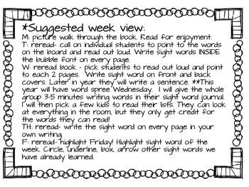 sight word book club 36 weeks