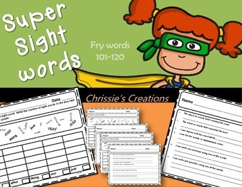Sight Words: Fry sight words graphing activity