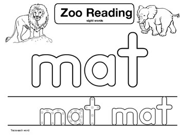 "sight word ""mat"" Zoo Reading"