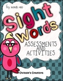 Sight word reading assessments for words 1-100 } includes activities