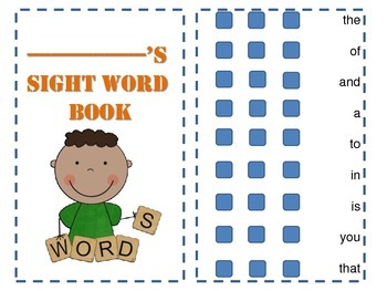sight word practice book