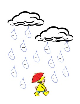 sight word rain find