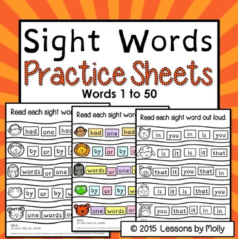 sight-words-practice-words 1-50
