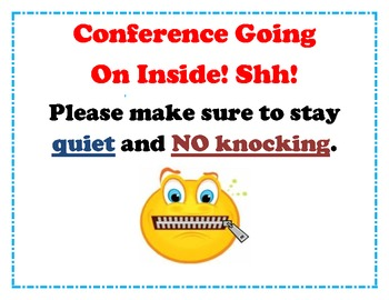sign for conferences! Do not disturb!