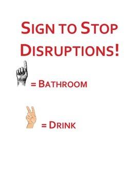 sign language classroom management