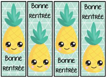 signet de la rentrée - ananas