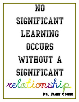 significant learning and relationships