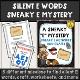 silent E words sneaky E mystery missions, crafts, dress up