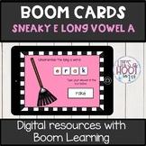 silent e long vowel /a-e/ BOOM CARDS digital resource Long