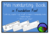 simple ALPHABET handwriting book  FOUNDATION FONT