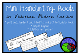simple ALPHABET handwriting book  VICTORIAN MODERN CURSIVE FONT