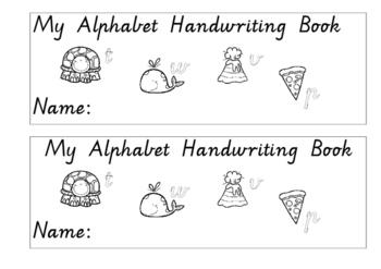 simple ALPHABET handwriting book VICTORIAN MODERN CURSIVE FONT